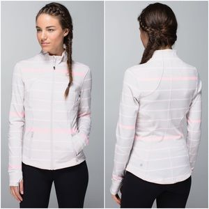 Lululemon | Forme Jacket Striped Gray Pink 10